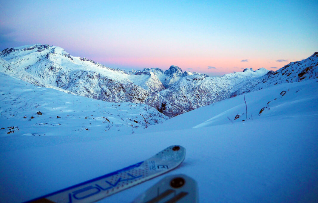 Lofoty Norwegia na skiturach