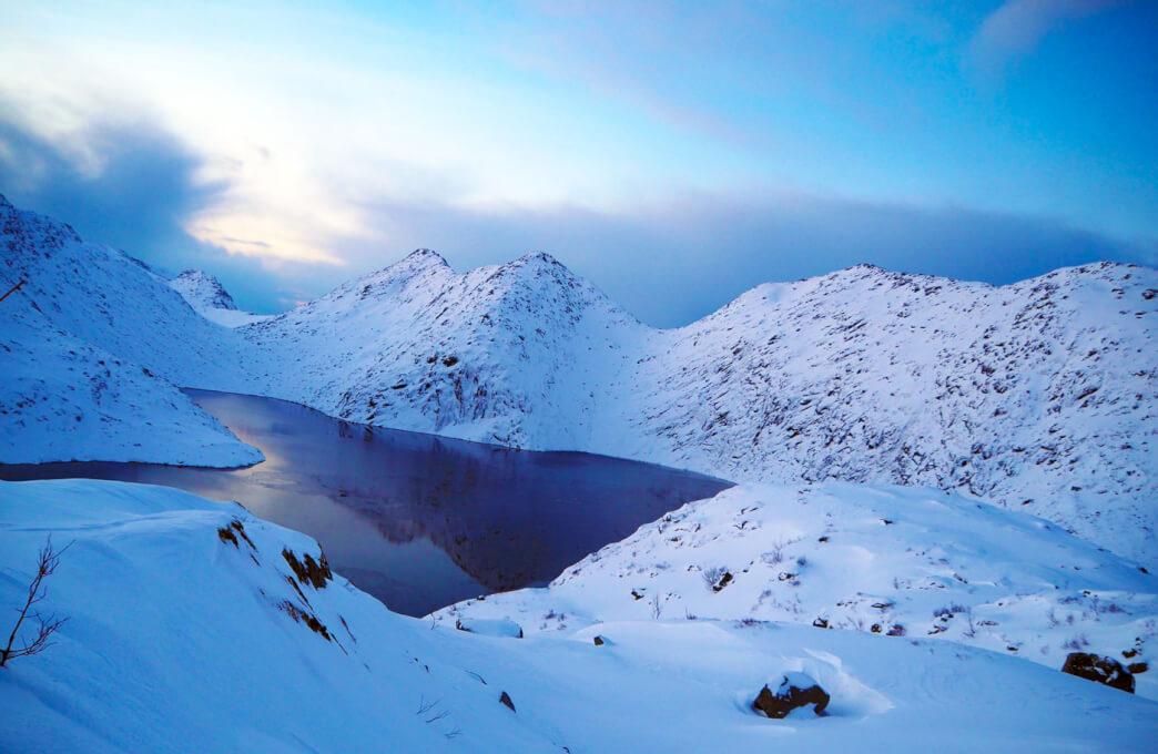 Jezioro na Lofotach