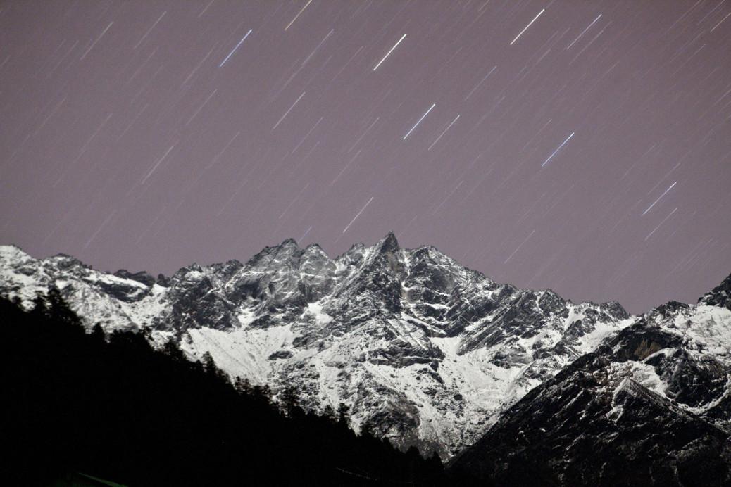 Widok z Lukli - miasta u stóp Everestu